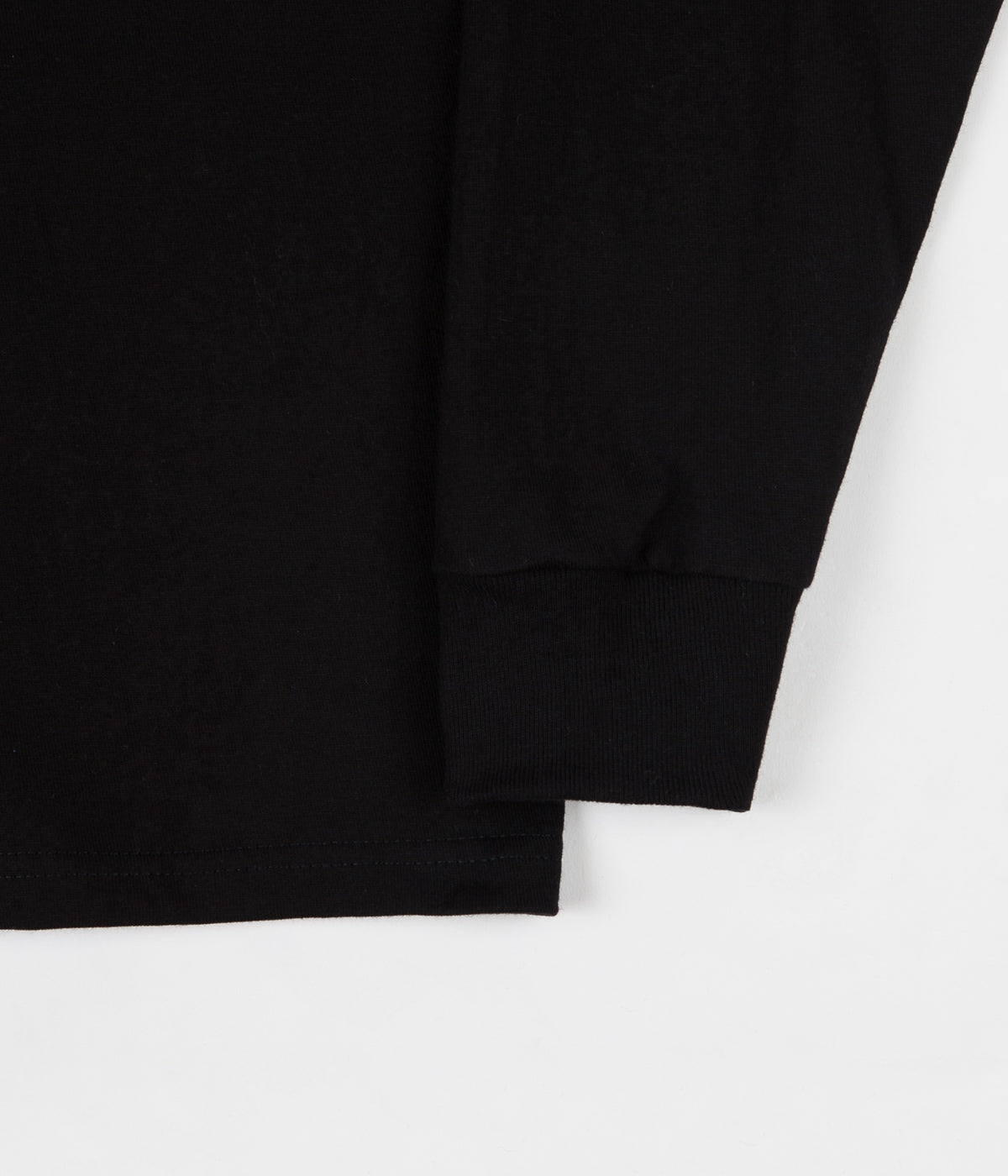 Stussy Stock Long Sleeve T-Shirt - Black