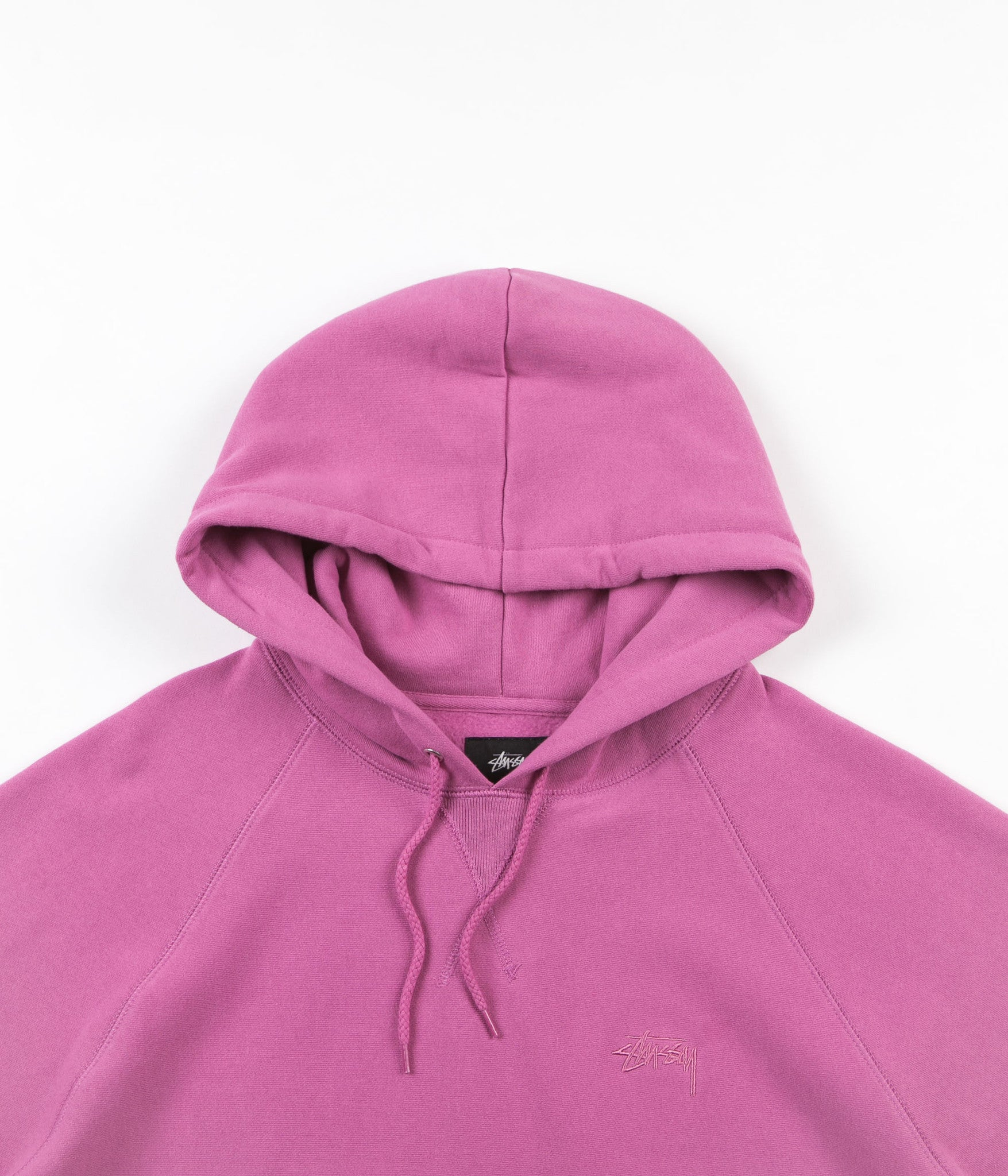 Stussy Stock Raglan Hooded Sweatshirt - Pink