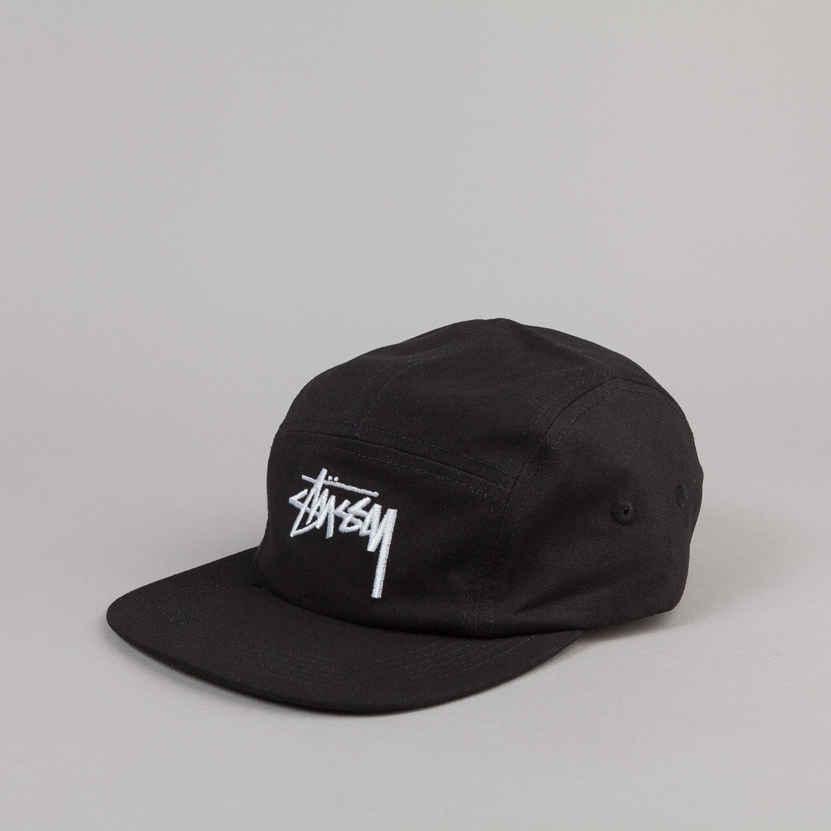Stussy Stock Wool Camp Cap - Black