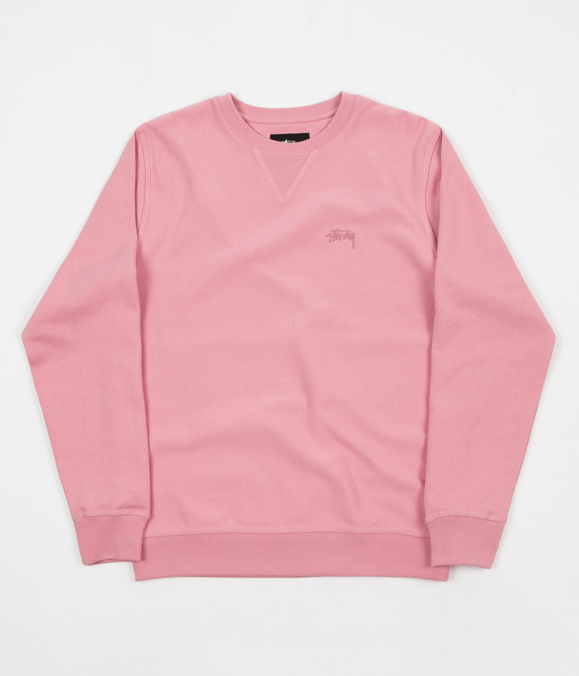 Stussy Stock Terry Crewneck Sweatshirt - Pink