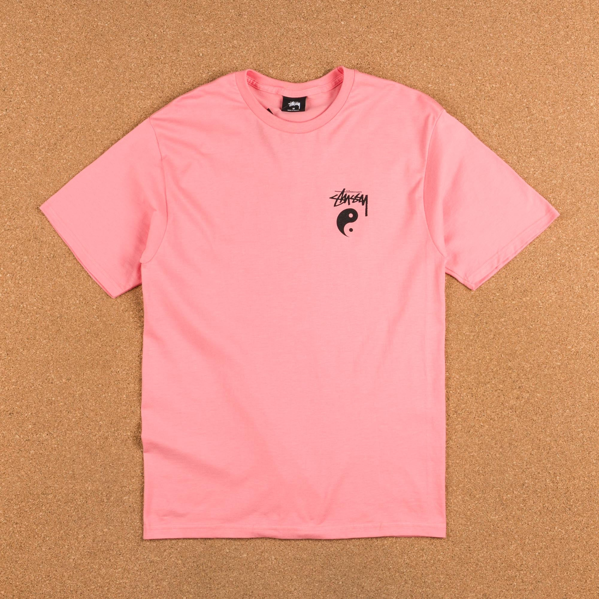 Stussy Stock Yin Yang T-Shirt - Rose