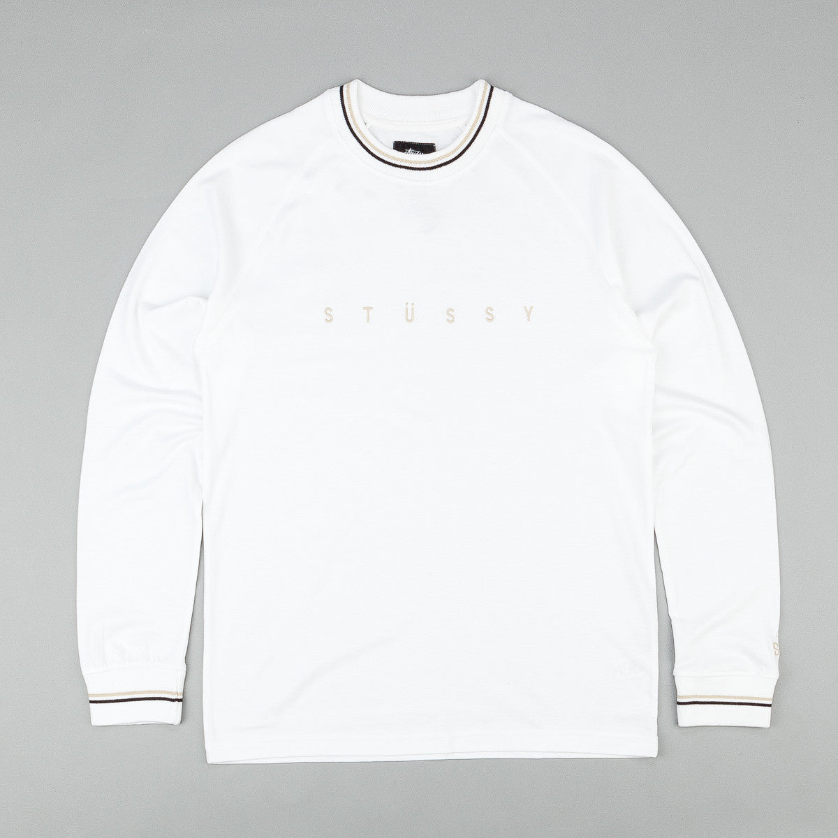Stussy Stripe Collar Long Sleeve T-Shirt