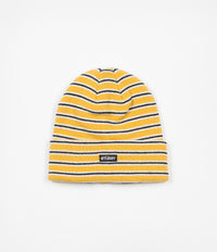 Stussy Striped Cuff Beanie - Yellow