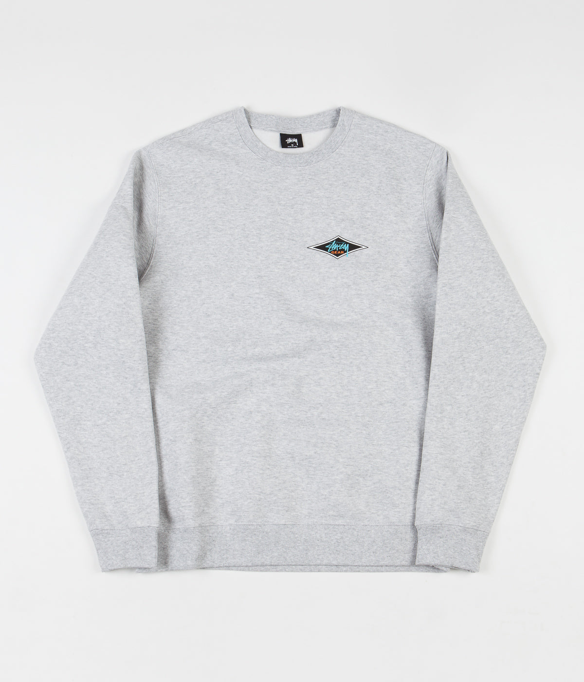 Stussy Stussy Gear Crewneck Sweatshirt - Ash Heather