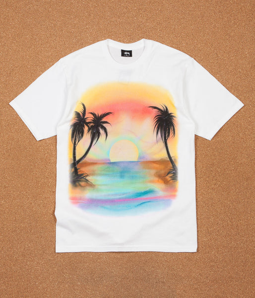 Stussy Sunset T-Shirt - White