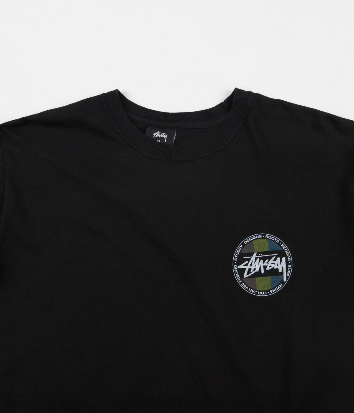Stussy Surf Dot Pigment Dyed Long Sleeve T-Shirt - Black