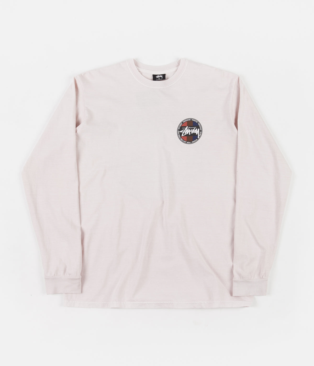 Stussy Surf Dot Pigment Dyed Long Sleeve T-Shirt - Fog
