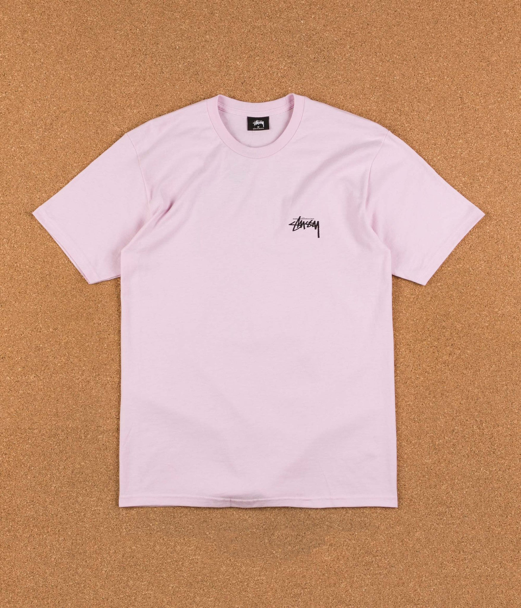 Stussy Surfman Check T-Shirt - Light Lavender