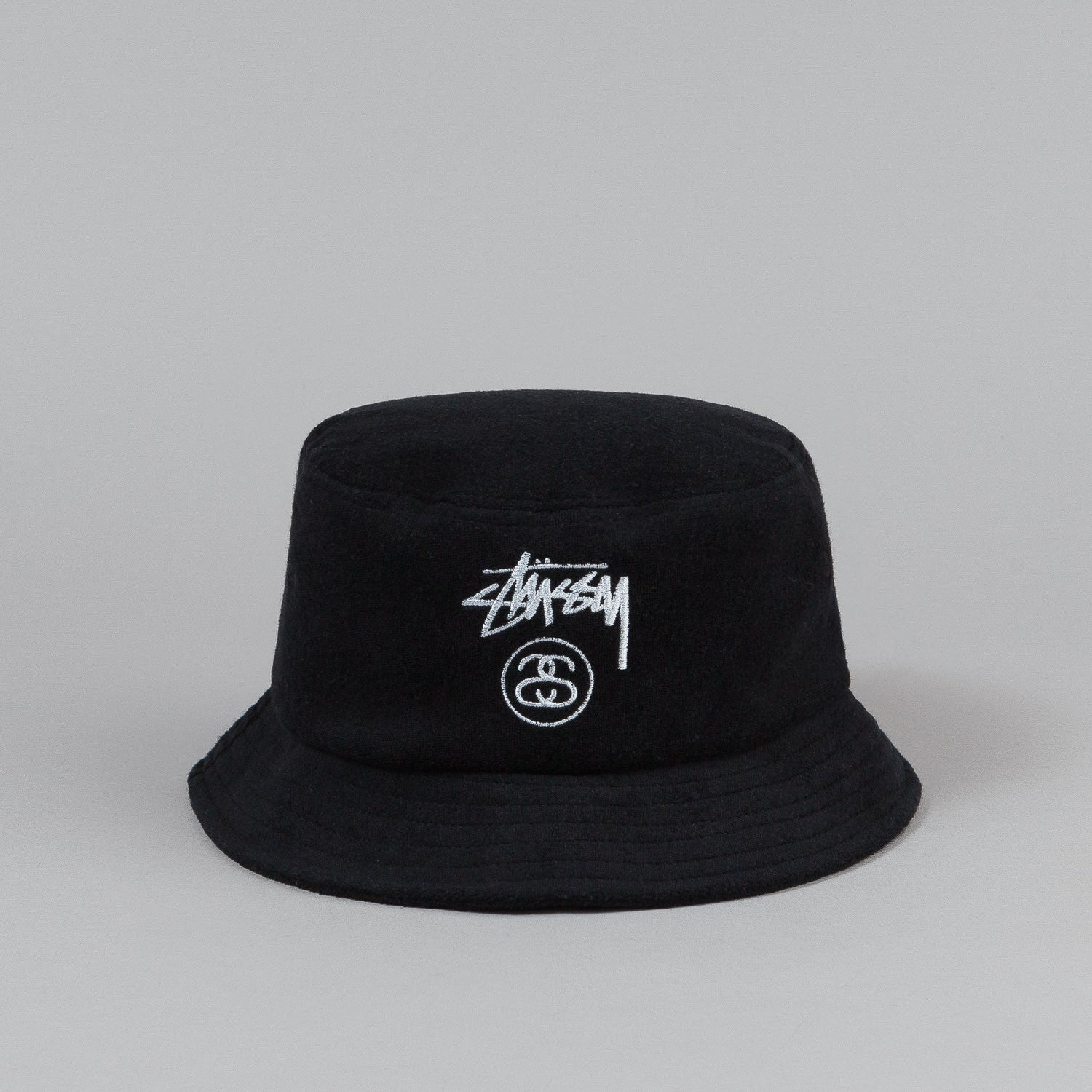 Stussy Terry Stock Lock Bucket Hat - Black