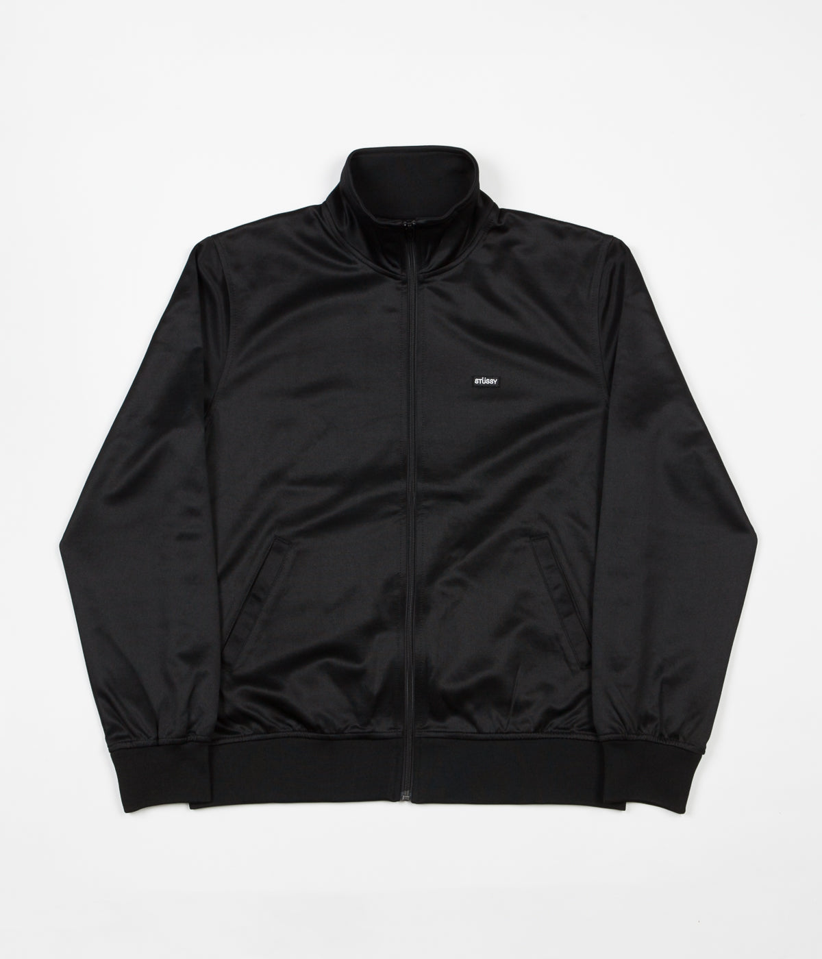 Stussy Textured Rib Tracksuit Jacket - Black