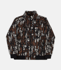 Stussy Tree Bark Fleece Jacket - Brown