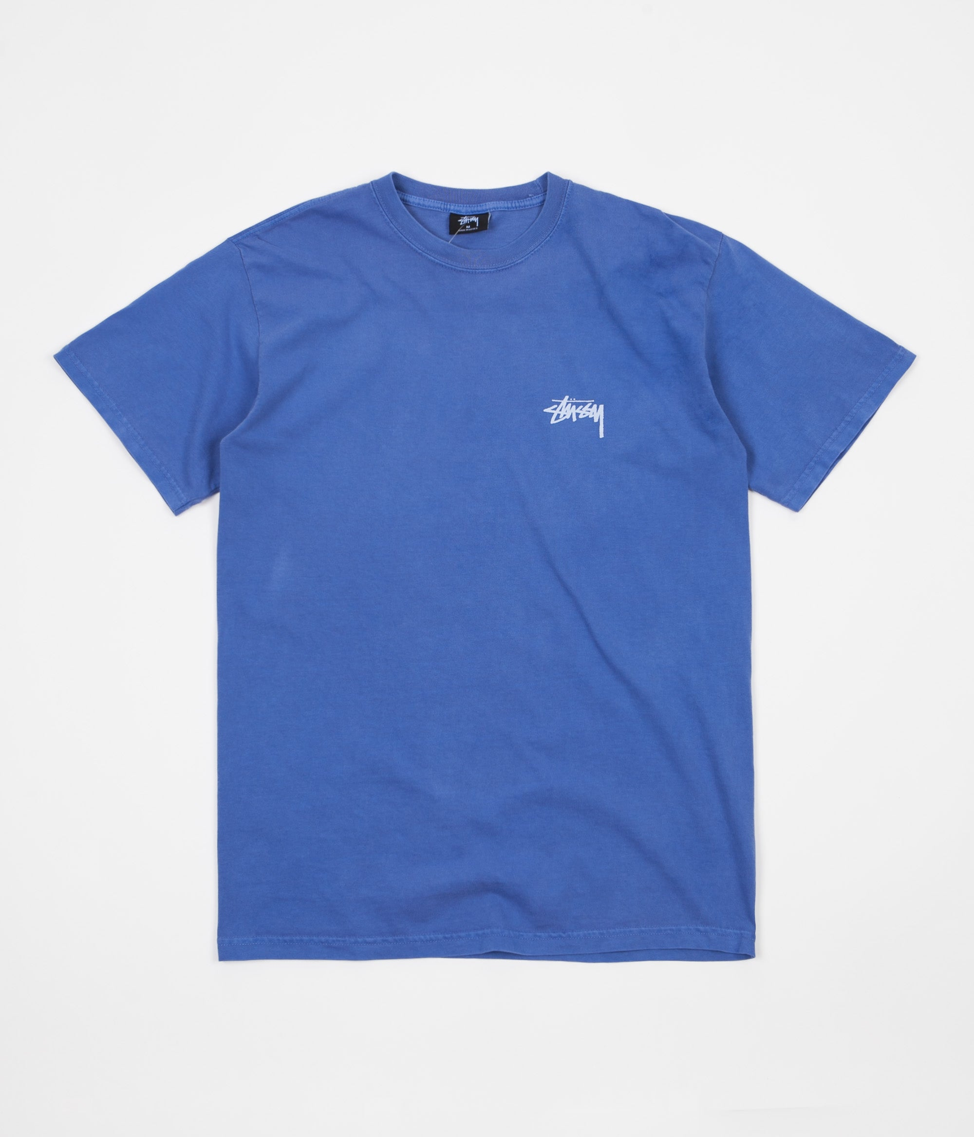 Stussy Tribeman Pigment Dyed T-Shirt - Blue