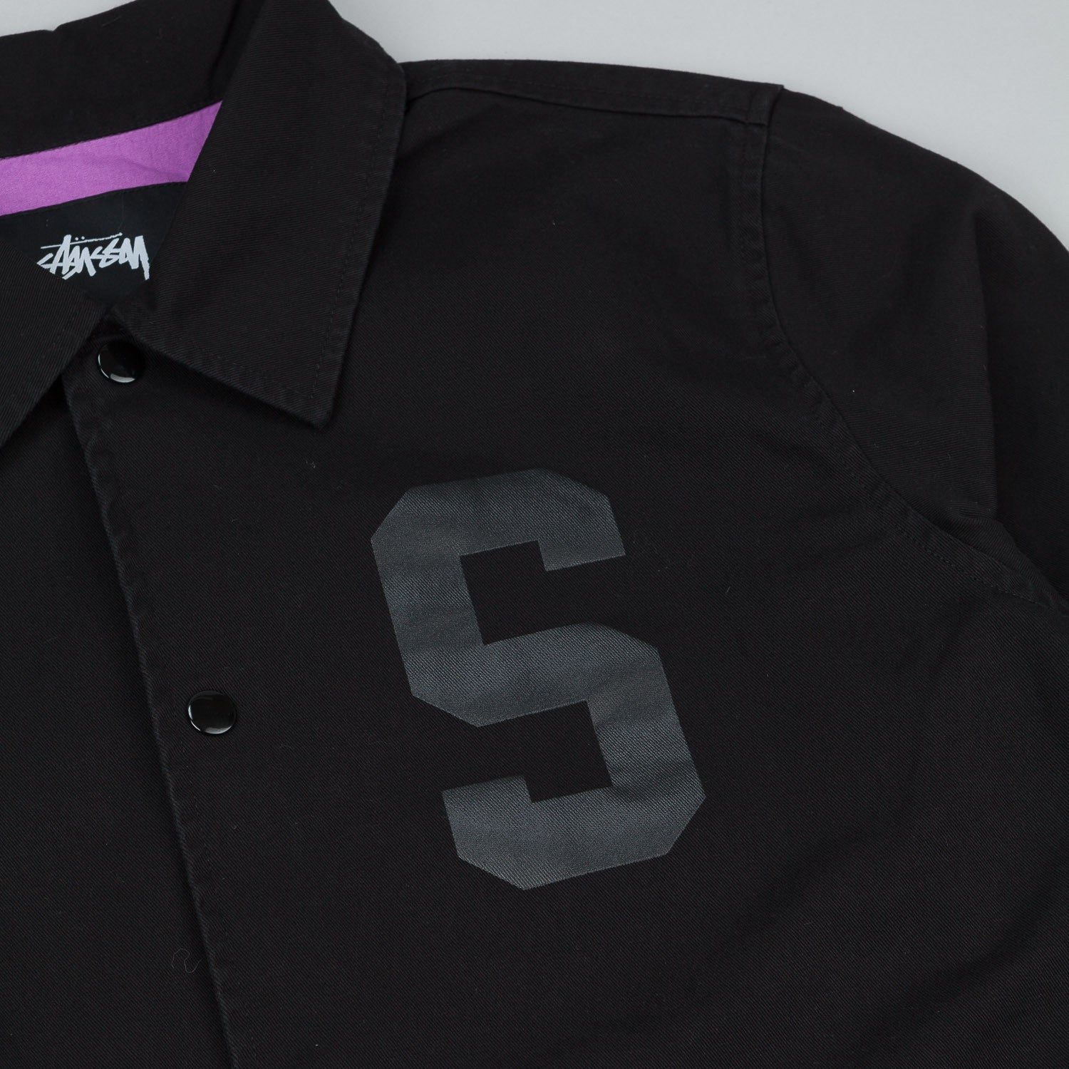 Stussy Twill Coaches Jacket - Black