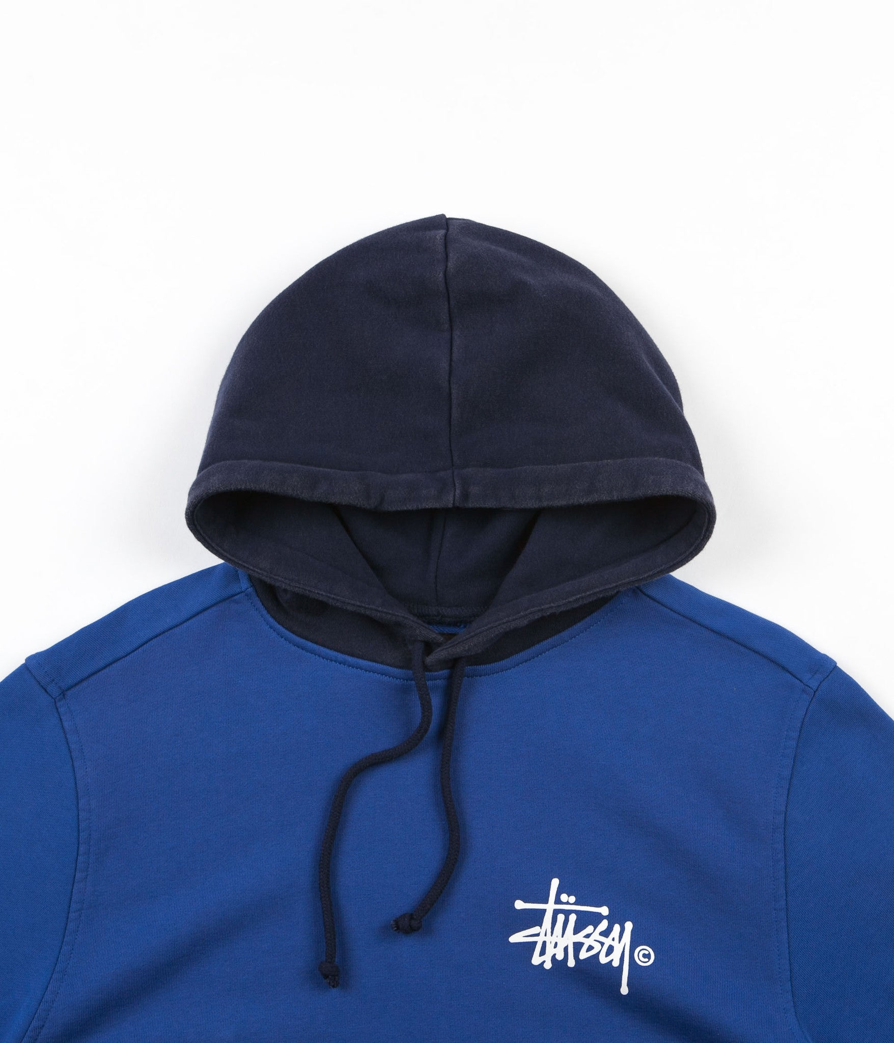 Stussy Two Tone Hooded Sweatshirt - Purple