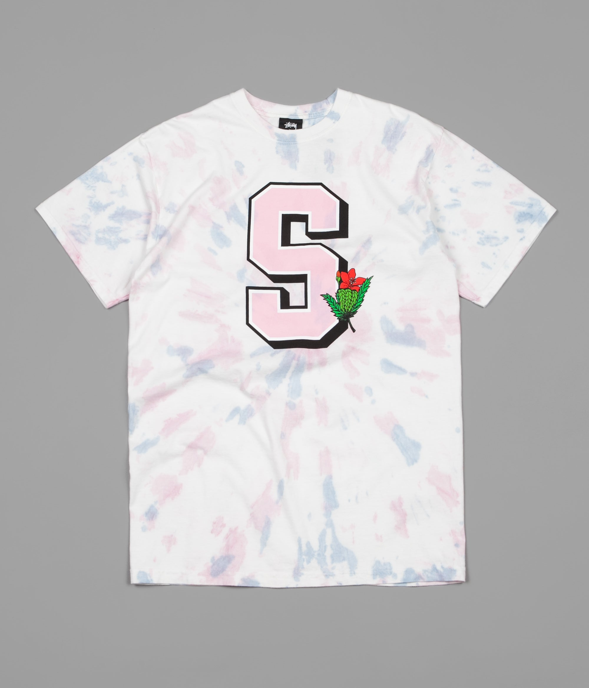 Stussy University Tie Dye T-Shirt - Natural / Pink