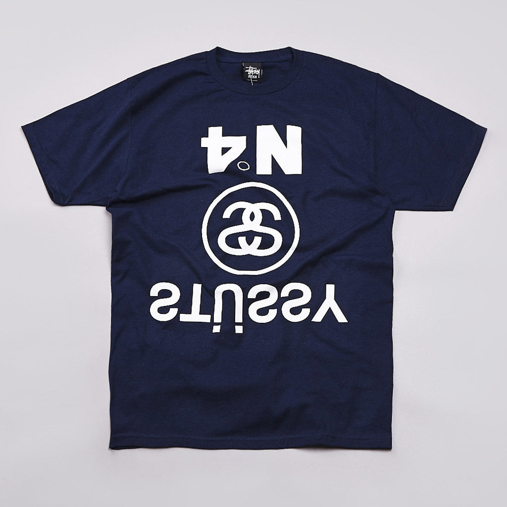 Stussy Upside Down T Shirt Navy