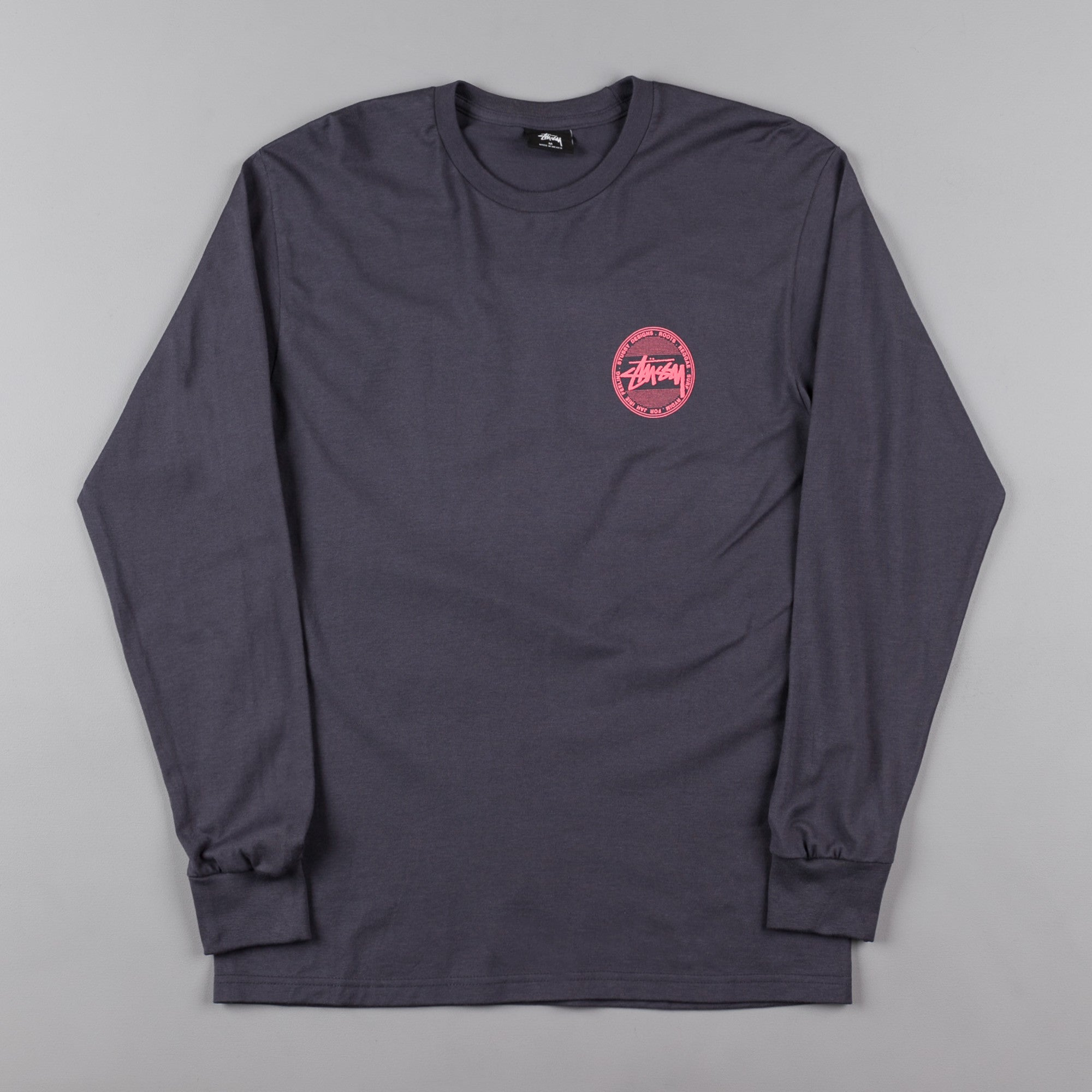 Stussy vintage dot long sleeve t shirt midnight flatspot for Retro long sleeve t shirts