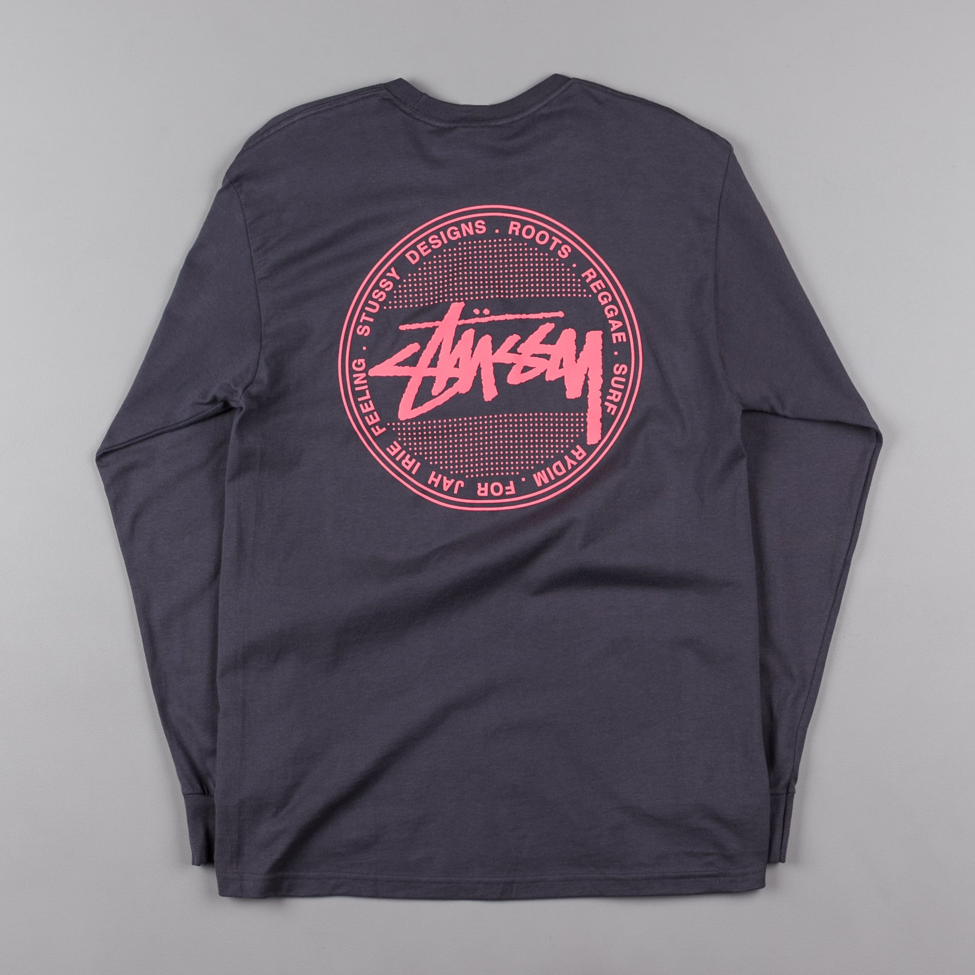 3ea49783 Stussy Vintage Dot Long Sleeve T-Shirt - Midnight