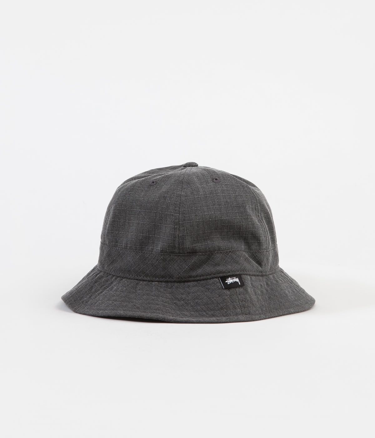 4a6bc42f Stussy Washed Ripstop Bell Bucket Hat - Black | Flatspot