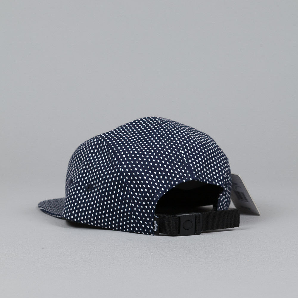 Stussy White Dot Camp Cap Navy
