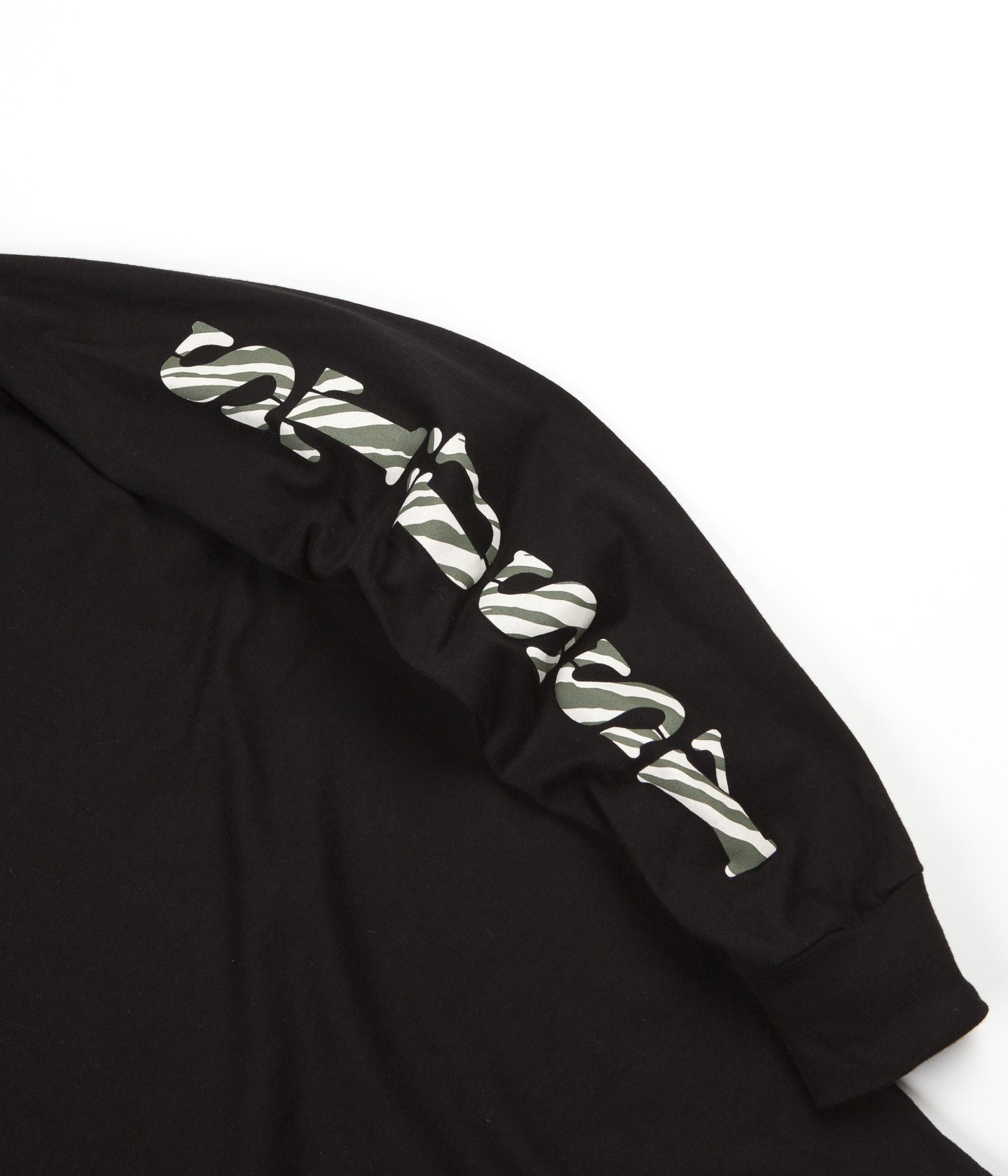 Stussy Wild Long Sleeve T-Shirt - Black