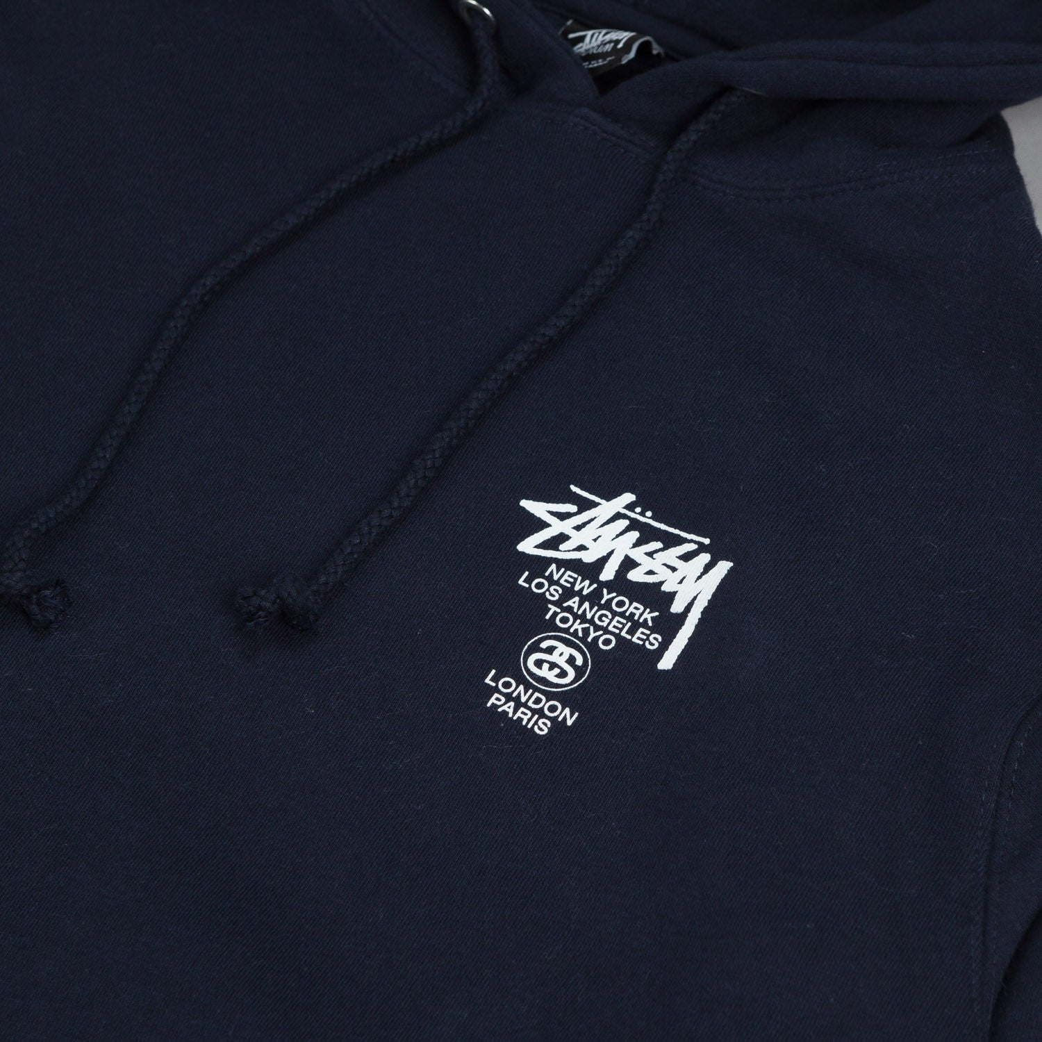 Stussy World Tour Hooded Sweatshirt Navy