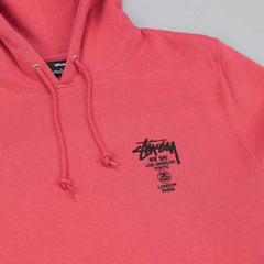 Stussy World Tour Hooded Sweatshirt - Salmon