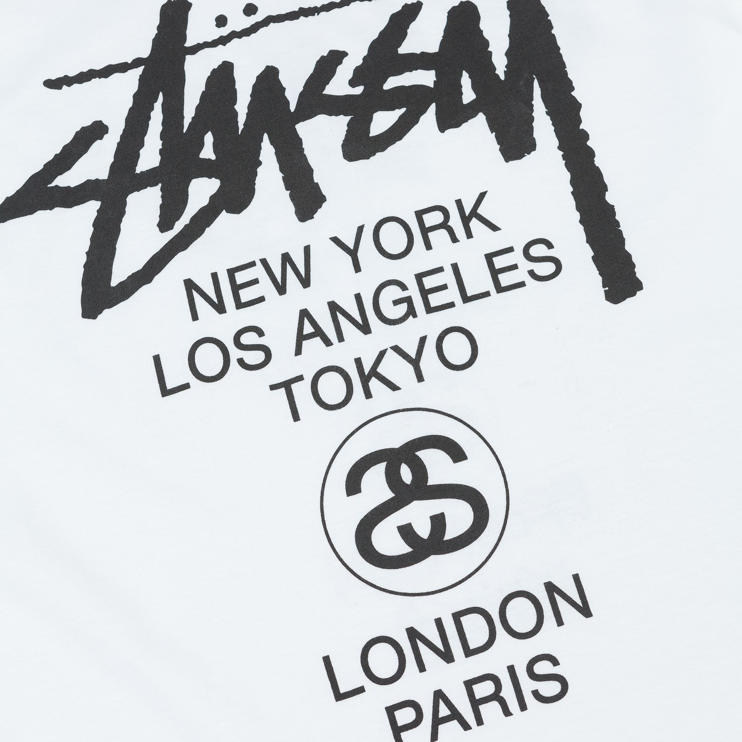 Stussy World Tour Long Sleeve T-Shirt - White