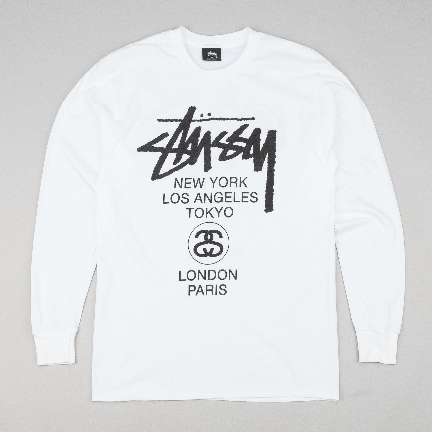 Stussy World Tour L/S T-Shirt White