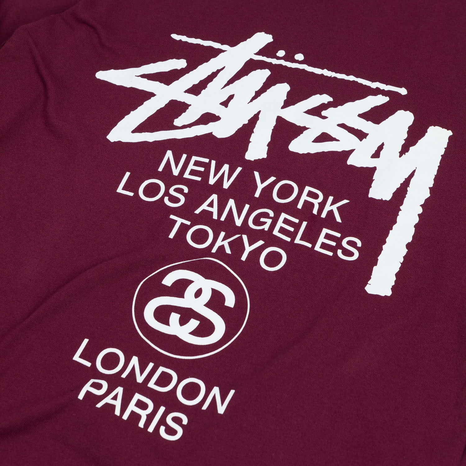 Stussy World Tour L/S Wine