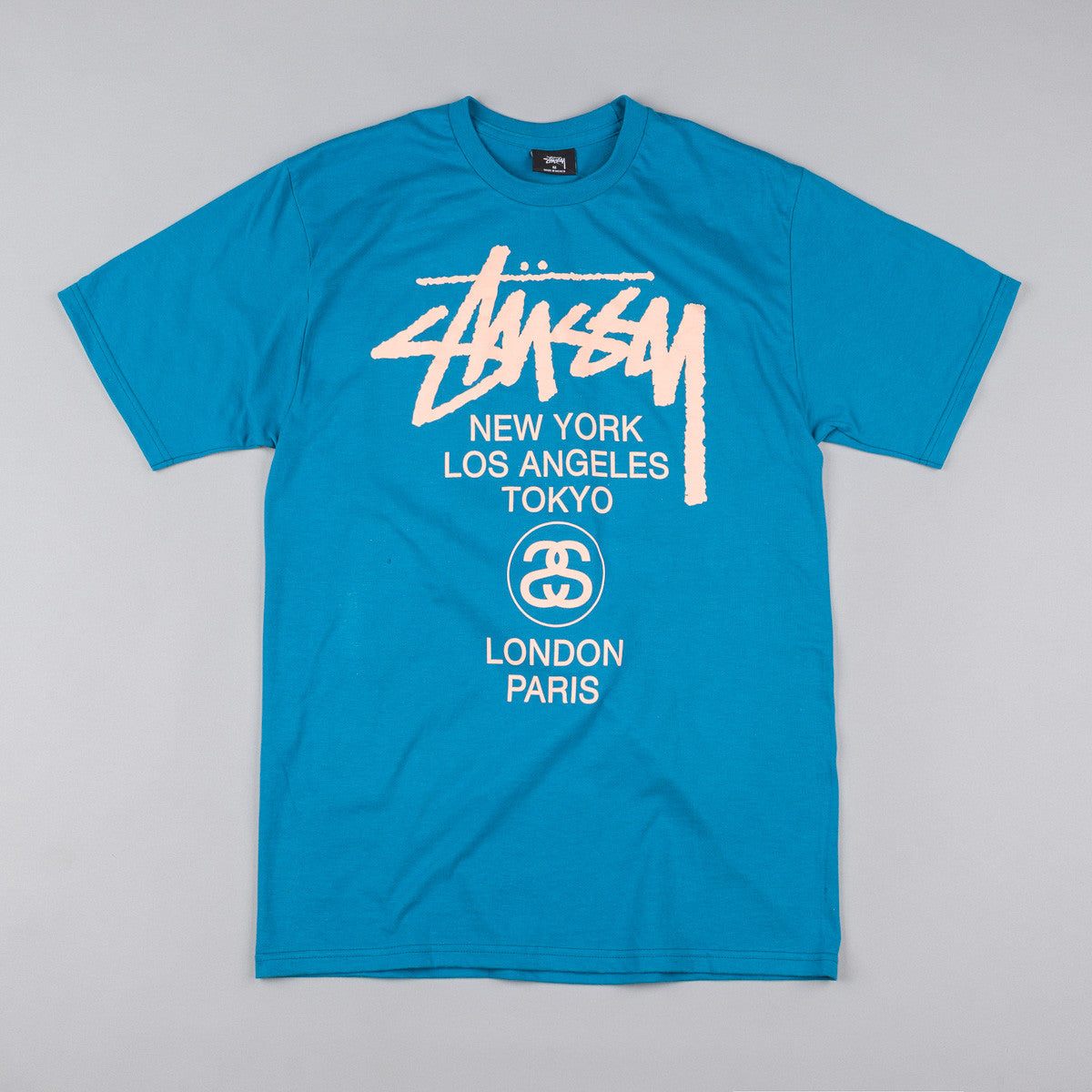 Stussy World Tour T-Shirt - Blue