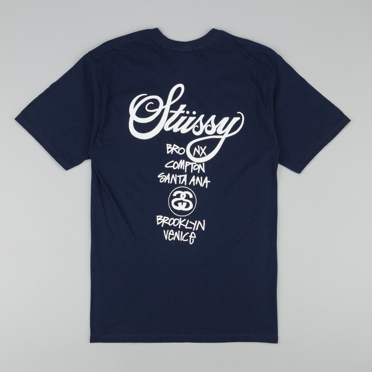 Stussy World Tour T-Shirt - Navy