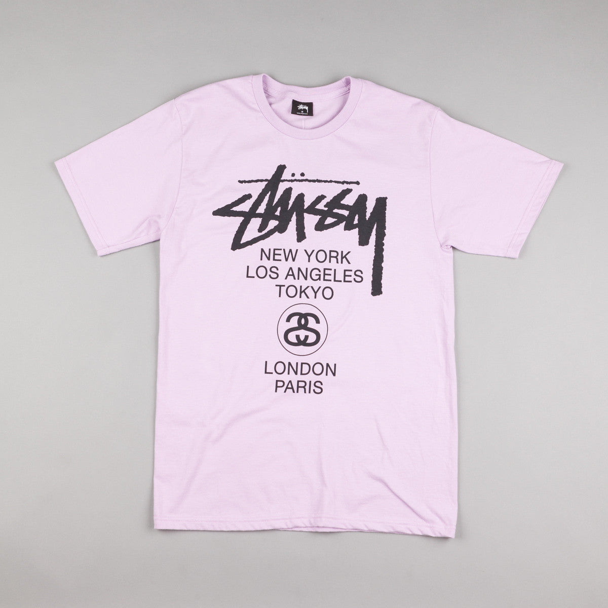 Stussy World Tour T-Shirt - Light Purple