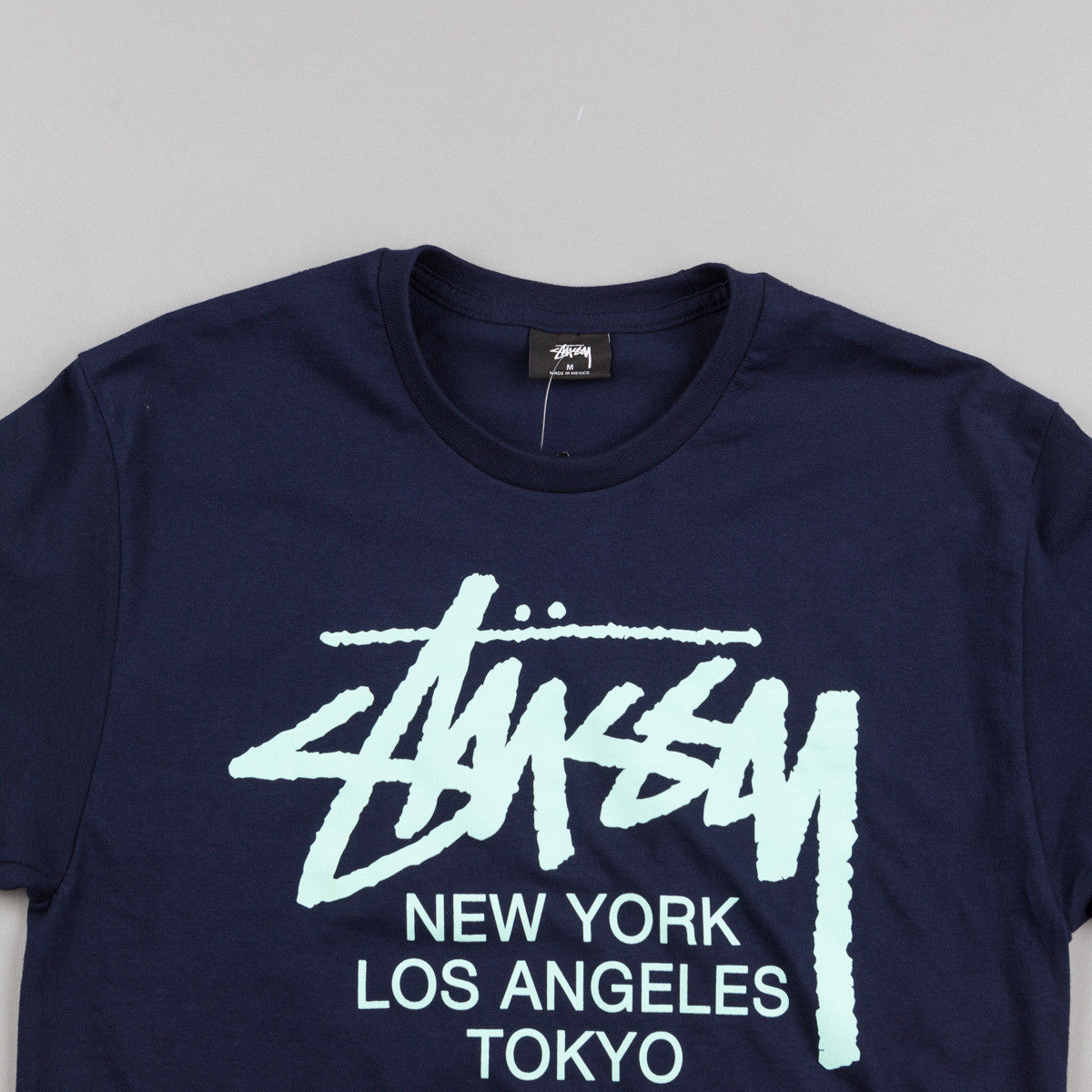 Stussy World Tour T-Shirt - Navy / Teal