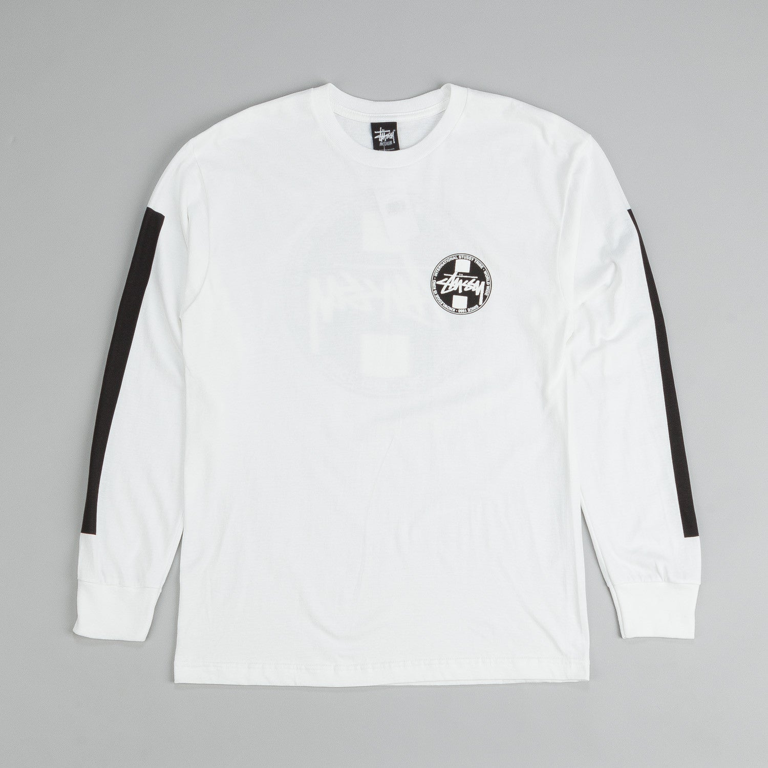 Stussy Worldwide Dot L/S White