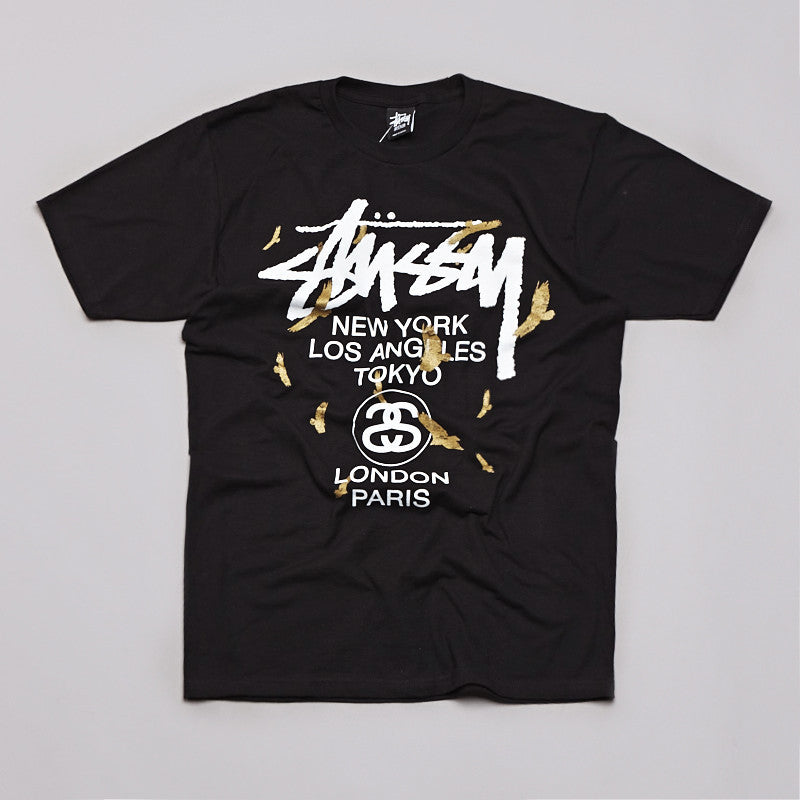 Stussy WT Birds T Shirt Black