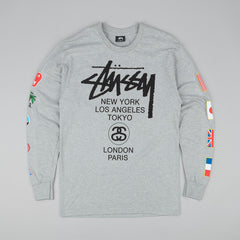 Stussy WT Flags Long Sleeve T-Shirt