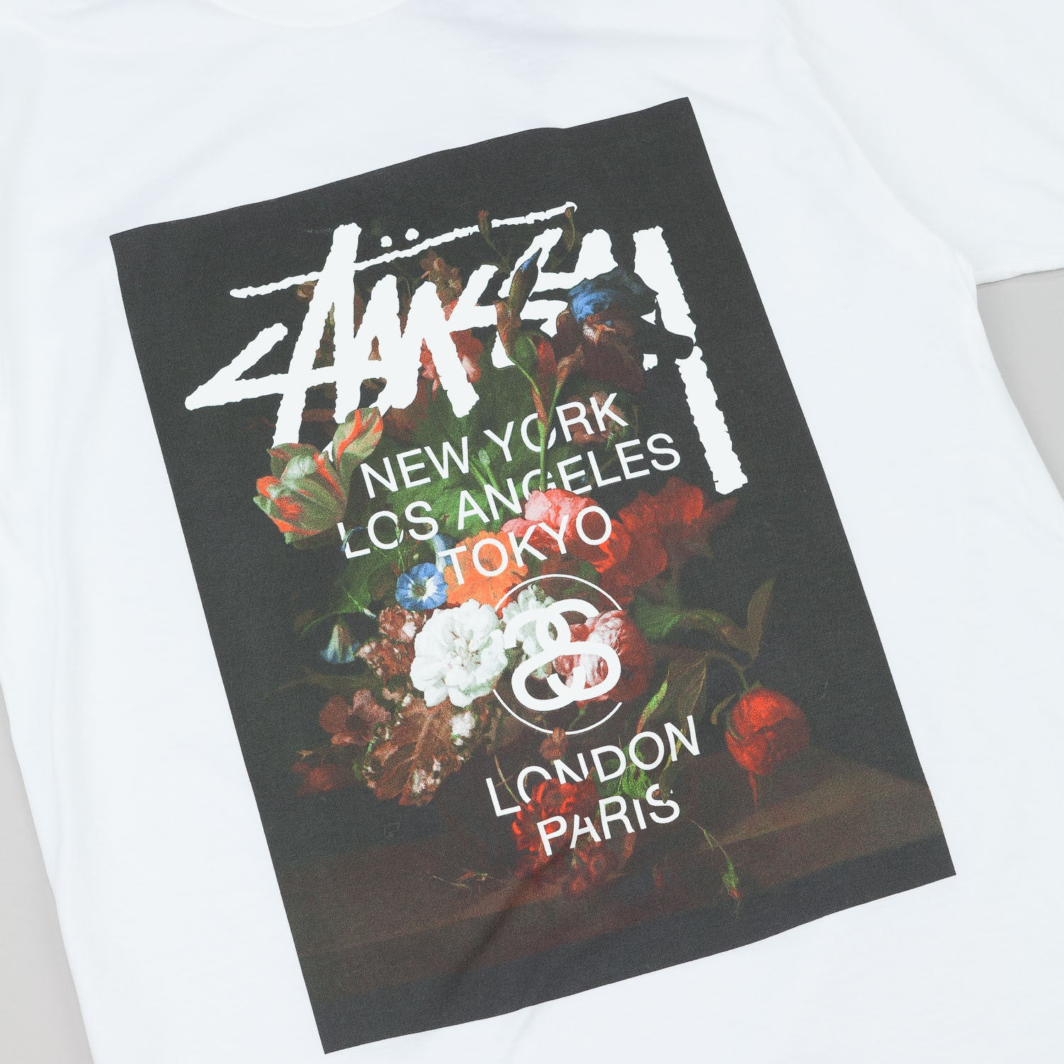 Stussy WT Floral T-Shirt - White
