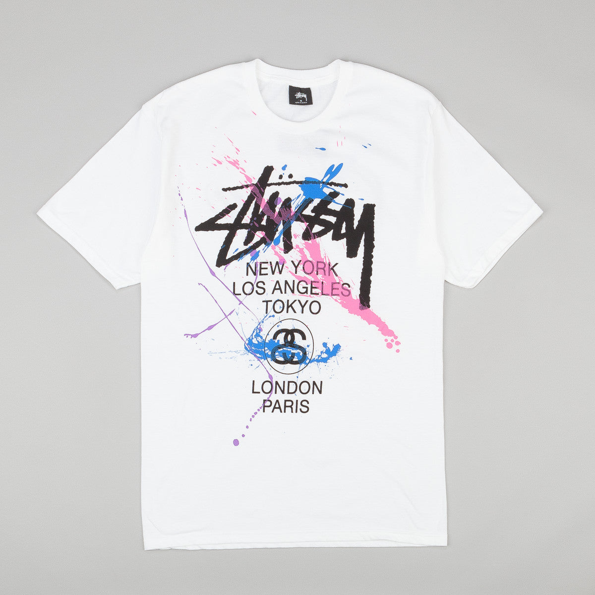 Stussy WT Paint T-Shirt - White