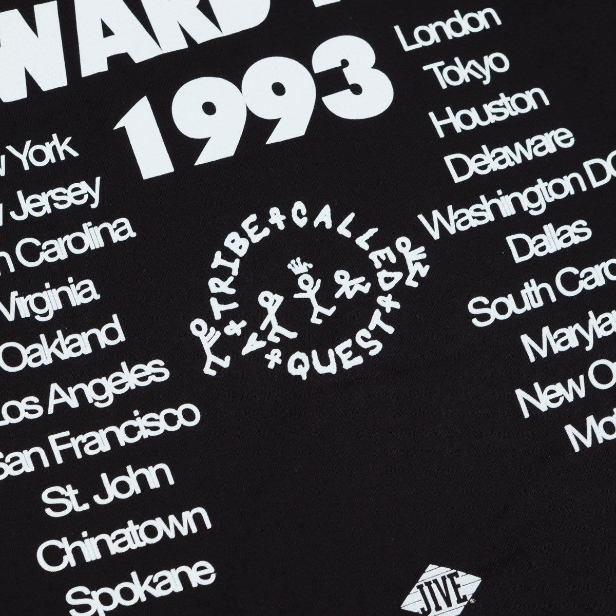 Stussy x ATCQ Award Tour T-Shirt Black