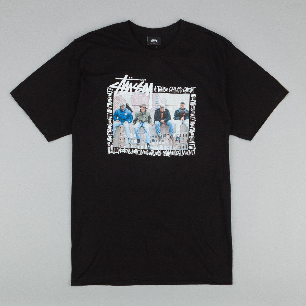Stussy x ATCQ Brick Wall T-Shirt Black