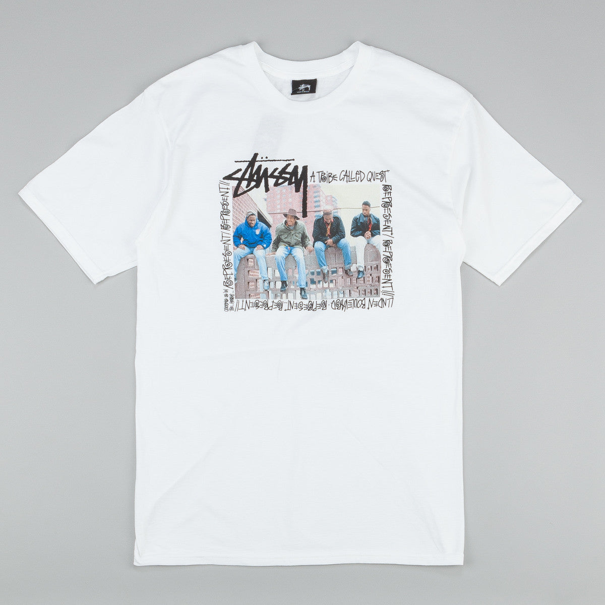 Stussy x ATCQ Brick Wall T-Shirt White
