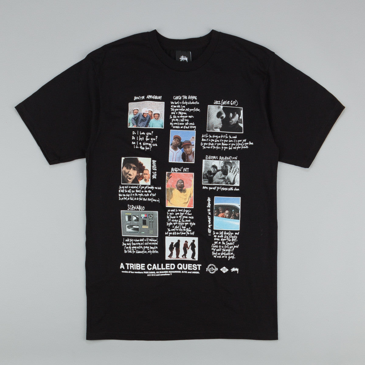 Stussy x ATCQ Collage T-Shirt Black