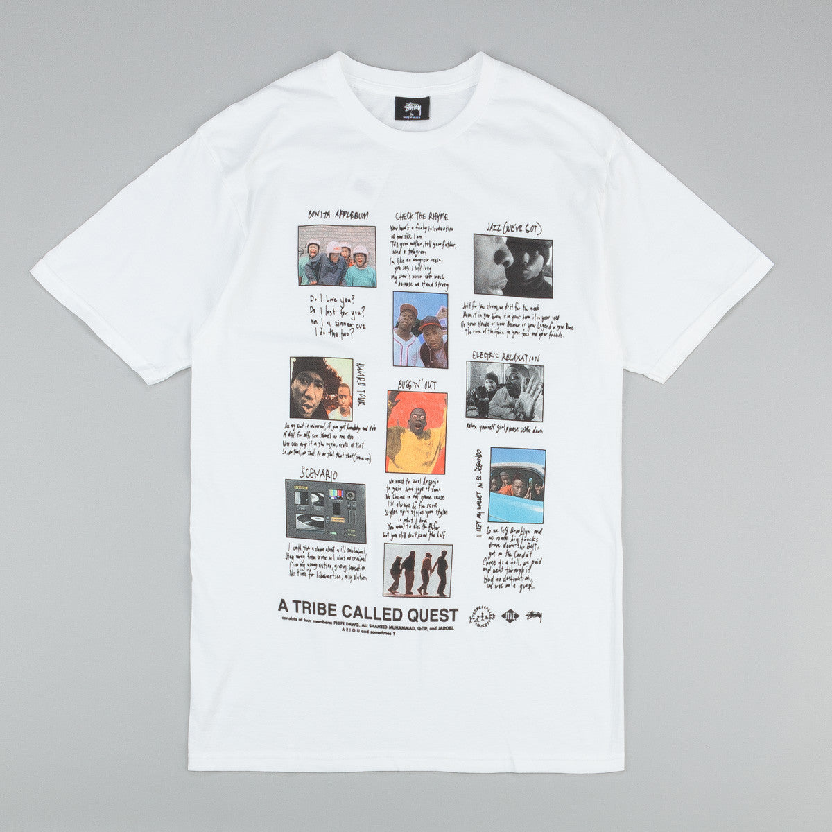 Stussy x ATCQ Collage T-Shirt White