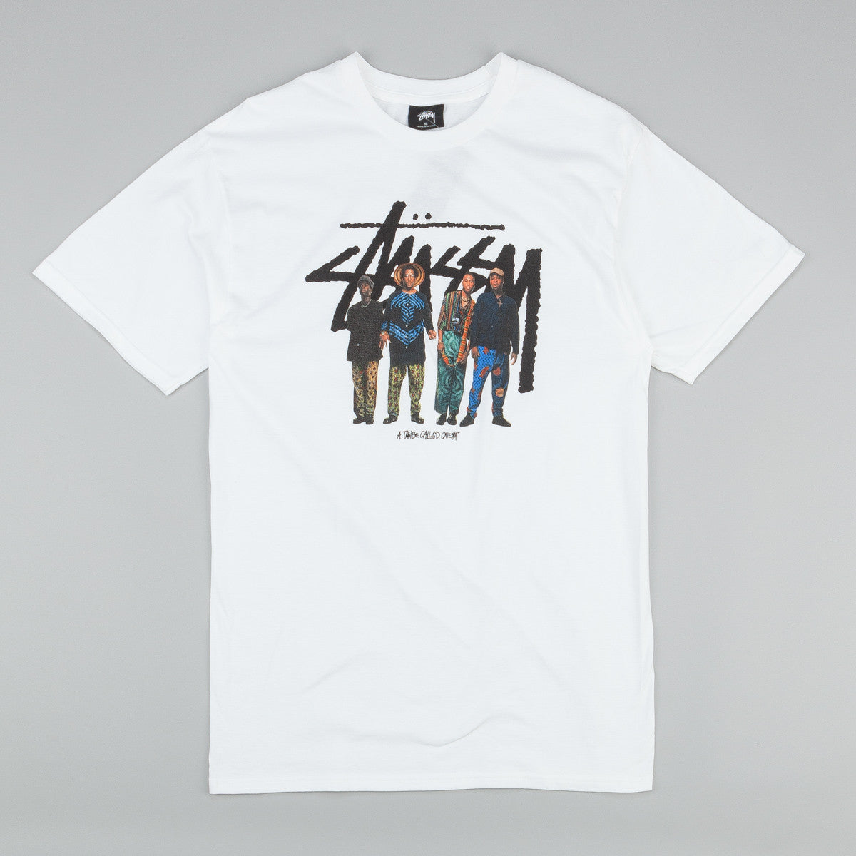 Stussy x ATCQ Stock Quest T-Shirt White