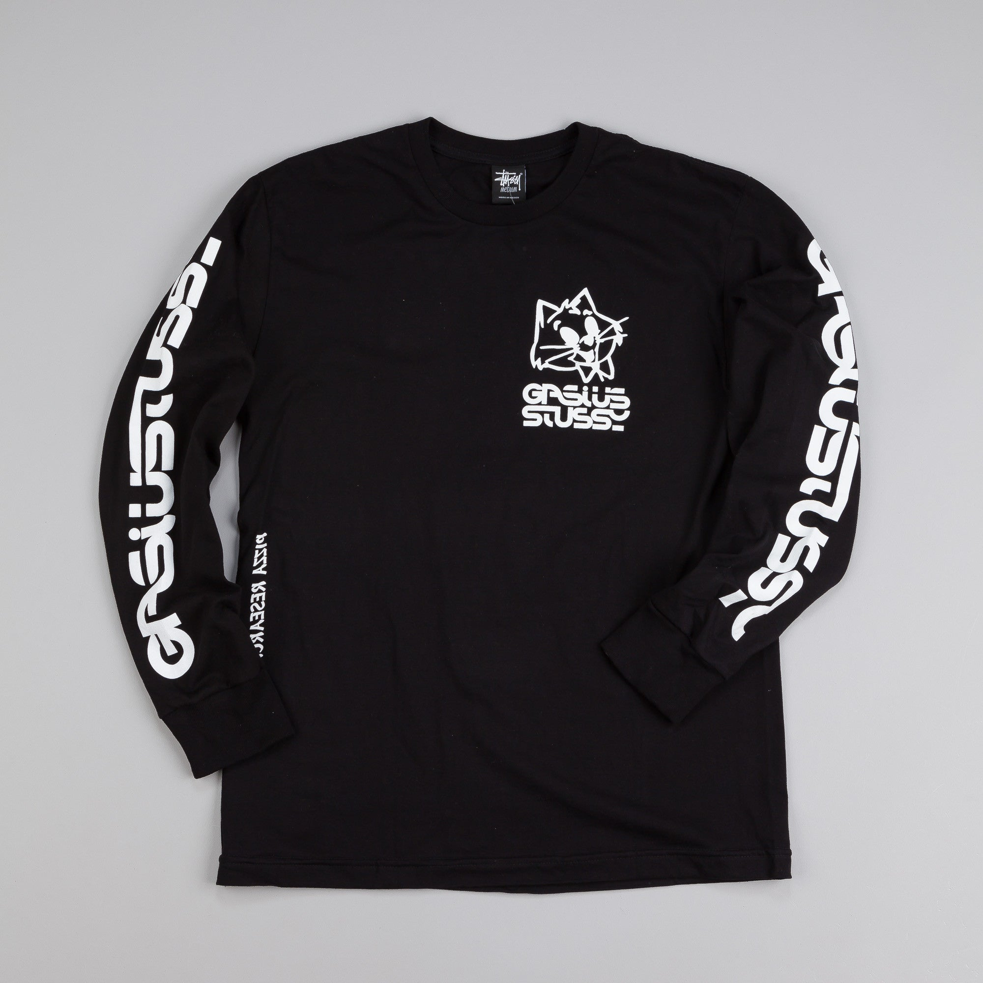 Stussy x Gasius Cat L/S T Shirt Black