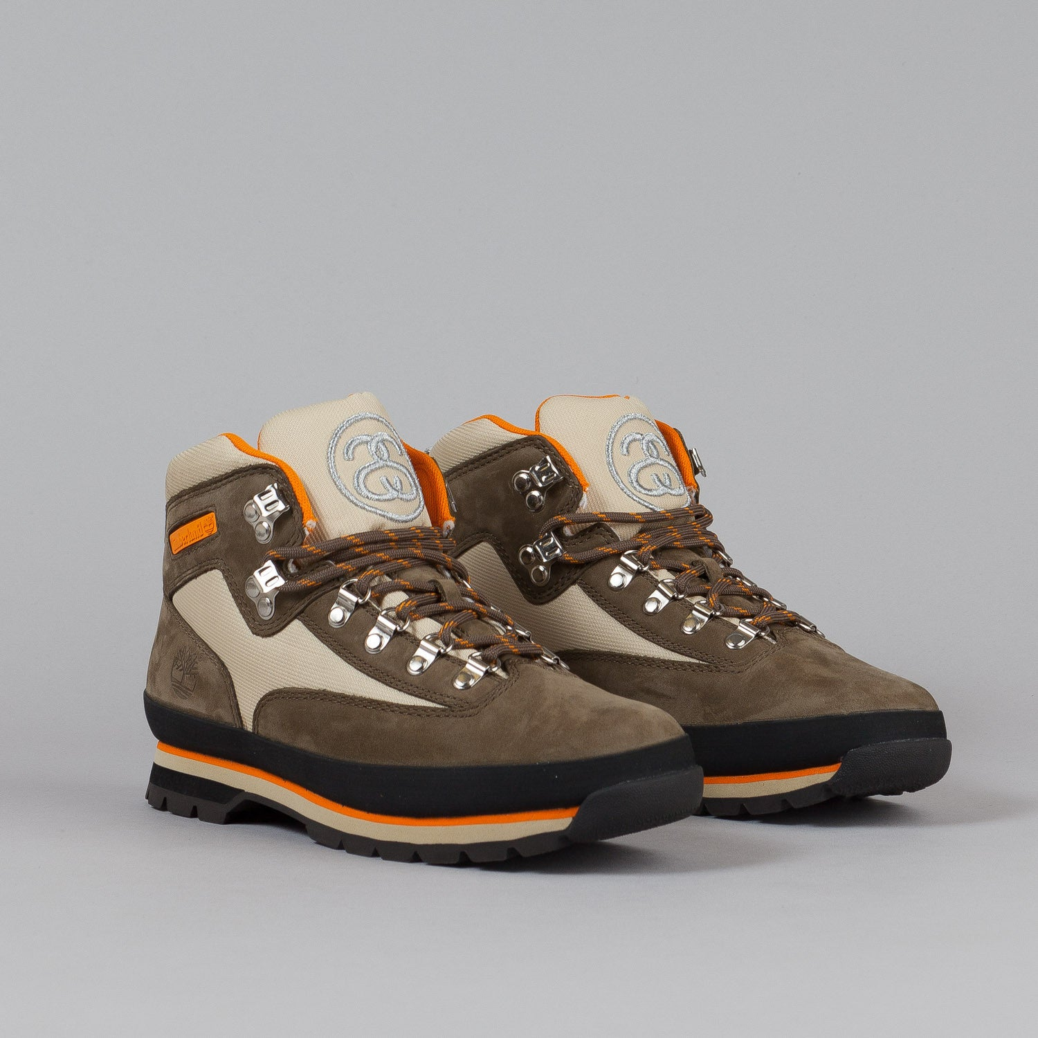 Stussy X Timberland Euro Hiker Boot Brown