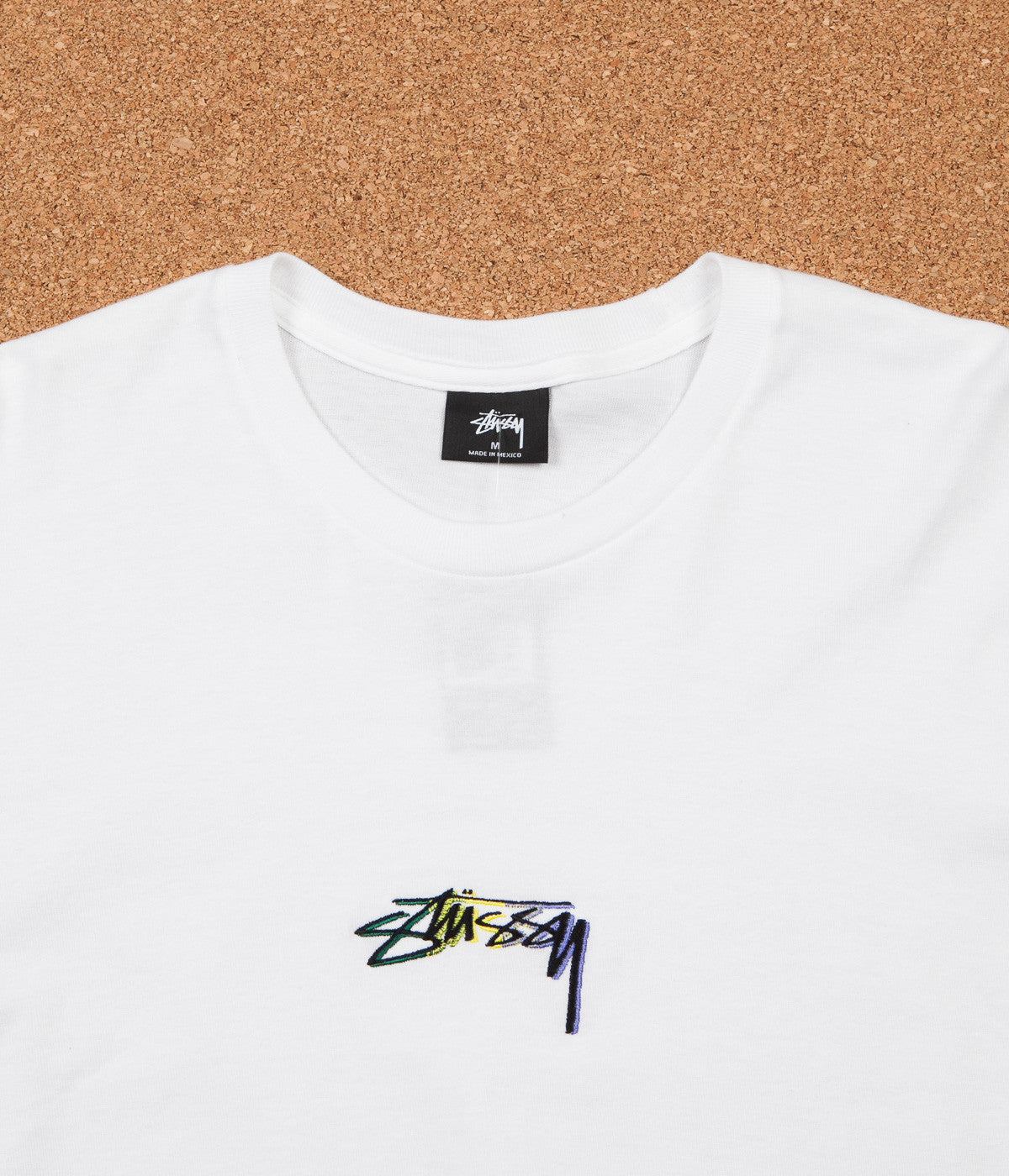 Stussy Smooth Stock Embroidered Long Sleeve T-Shirt - White