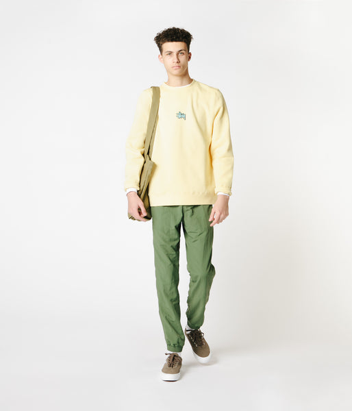 Stussy Lil' Stu Crewneck Sweatshirt - Pale Yellow