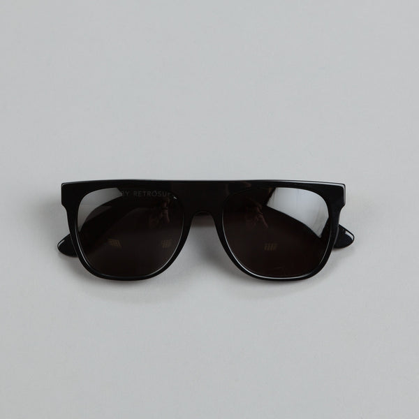 Super Sunglasses Flat Top Black